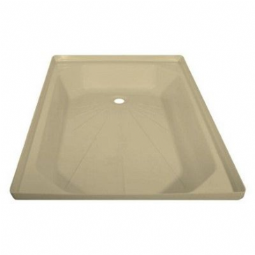 "Caravan/Motorhome PLASTIC SHOWER TRAY 24"" X 36"" SOFT CREAM"